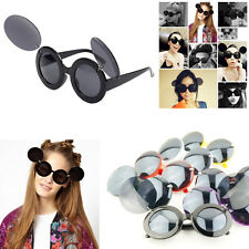 Stylish Fashion Travel Lady Mickey Mini Mouse Flip Up Paparazzi Sunglasses