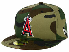 Official MLB Los Angeles Angels Anaheim Under Woodland New Era 59FIFTY Hat