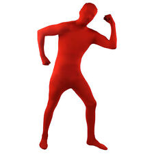 RED SKIN SUIT MENS FESTIVAL STAG PARTY FANCY DRESS COSTUME HALLOWEEN BODYSUIT