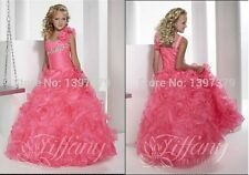 Pink Flower Girl Dress Party Dance Formal Gown Pageant Birthday Wedding Dresses
