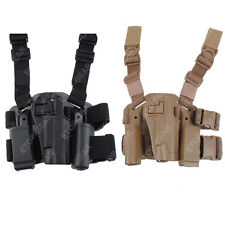 Tactical Right Leg Thigh Hand Holster w/ Magazine Torch Pouch Colt 1911 M1911