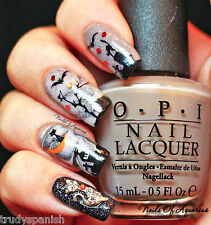 Halloween Nail Art Stickers Nail Water Decals Transfers Ghosts Spiders Pumpkins