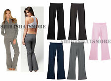 Bella Ladies Cotton Spandex Yoga Workout Sweat Exercise Pants Sizes S-2X New 810