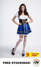 Sexy Oktoberfest Beer Girl Maid German Bavarian Wench Ladies Fancy Dress Costume
