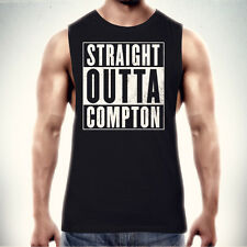 STRAIGHT OUTTA COMPTON TANK TOP T-shirt Singlet NWA Rap Hip Hop Gangsta Ice Cube
