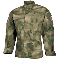 MFH ACU Ripstop Uniform Shirt Mens US Army Combat Long Sleeve Jacket HDT Camo FG