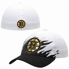 Boston Bruins Zephyr Flame Flex Hat - White - NHL