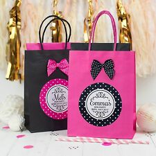 PERSONALISED HEN PARTY FAVOUR BAG | POLKA DOT ROUND | BIRTHDAY GIFT WITH BOW