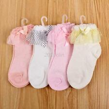 Princess Toddler Baby Girls Cotton Cute Ankle Socks Dots Bow-knot Lace Socks C56