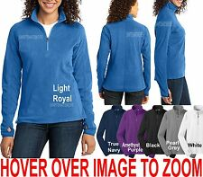 Ladies Womens Microfleece 1/2 Zip Pullover Sweater XS-4XL Jacket With Thumbhole