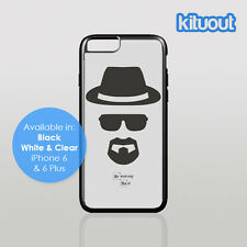 Breaking Bad Walter Heisenberg iPhone 5 6/6 Plus Clear Black White Case Cover