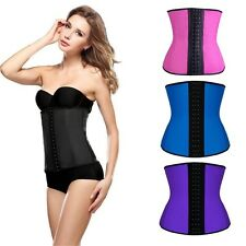 Hot Latex Waist Trainer Cincher Slimming Body Shapers Rubber Corset for Womens
