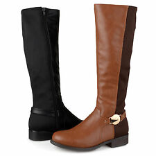 Brinley Co. Womens Tall Round Toe Riding Boots