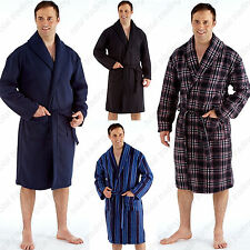 Mens Polar Fleece Dressing Gown Bath Robe Cosy Spa Warm MN2324 basic value
