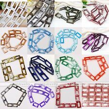 Natural Mother Of Pearl Shell Hollow Out Rectangle Loose Bead Charms Jewellery