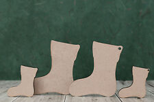 Mdf wooden stocking craft shapes, laser cut blanks for Christmas projects (3mm)