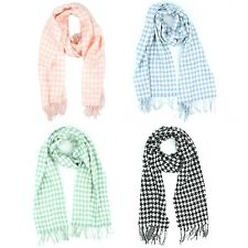 Croft & Barrow Houndstooth Scarf with Fringed Ends for Women - 63 inches