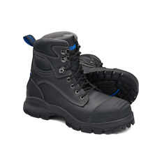 Blundstone Black Water Resistant Leather Lace Up 150mm Ankle Safety Boot (991)