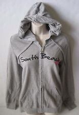 "ROXY Women's Gray""SOUTH BEACH "" Hoodie Full Zip Sweat Jacket Size M,L NWT"