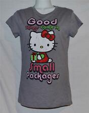 """Hello Kitty X-Mas """"Good Things Come in Small Packages""""  Junior Tee Size M or L"""