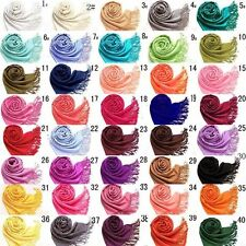 Long Solid Ladies Women Vintage Cashmere Pashmina Scarf Wrap Shawl Muffle New