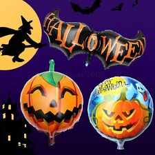 Pumpkin Ghost Halloween Bat wing Props Head Foil Balloons Party Home Decoration