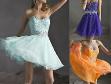 Beaded Short/Mini Cocktail Dress Party Ball Gown Bridesmaid Evening Prom Dress