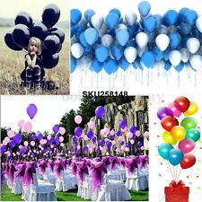 10-100PCS 12'' Party Birthday Party Wedding Prom Latex Balloons Pearlised Decor