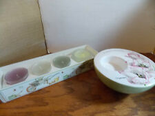 MARJOLEIN BASTIN TEALIGHT CANDLE HOLDER & COLONIAL CANDLE TEALIGHT PACK 4