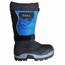 Itasca SNOWMOBILE Mens Blue Black Waterproof 400g Insulated Warm Winter Boots