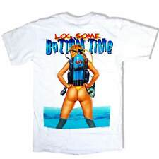 Amphibious Outfitters T-Shirt - Log Some Bottom Time - White - Scuba Dive