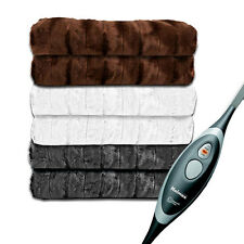 Holmes Luxury Oversized Luxe Mink Heated Electric Throw Blankets Assorted Colors