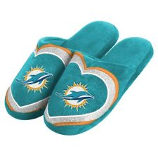 Miami Dolphins NFL Women's Glitter Heart Slide Slippers