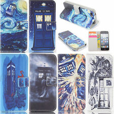 Tardis Doctor Who Design Wallet Leather case for Samsung Q0039