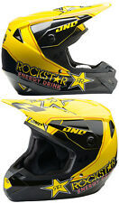 ONE INDUSTRIES ROCKSTAR ENERGY MX MOTOCROSS HELMET BLACK YELLOW enduro bike new