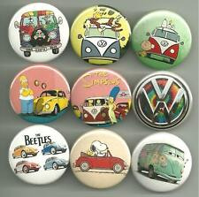Volkswagen Bus Van Beetle VW 1.5 inch Pins Buttons Magnet Set