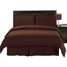 Chocolate 100% Microfiber Super Soft  Bed in a Bag Bedding Set (8-PC )
