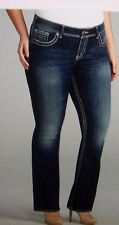 NEW Silver Brand JEANS Boot cut SUKI mid rise dark wash curvy fit sz 18 22 24