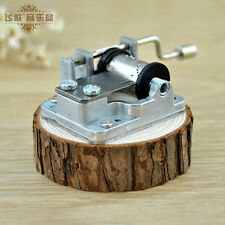 Many Songs! New Clear Hand Crank Hurdy Gurdy Pine Music Box Play Jingle Bells