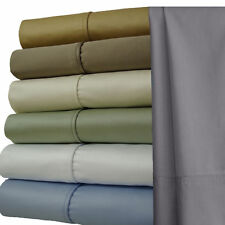 "1000 TC Solid Oversized King Sheets, 100% Cotton 22"" Extra Deep Pocket Sheet Set"