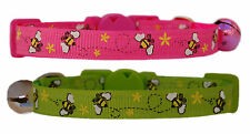 hot pink or lime green & yellow bumble bee safety kitten cat up to 30.5cm collar
