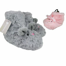 Girls Plush Furry Pink Rabbit Boot Slippers Faux Fur Warm House Shoes Booties