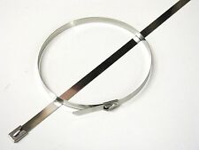 STAINLESS STEEL CABLE TIES - STD or WIDE - Multi Pack Sizes (Exhaust Heat Wrap)