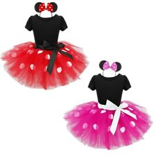Minnie Mouse Kids Girls Birthday Party Halloween Costume Ballet Tutu Dress Xmas