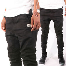 Sync Denim The Dropfly Skinny Fit Drop Crotch Chino Pants in Khaki & Black