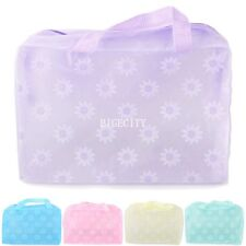 Travel Clear Plastic Zipper Cosmetic Makeup Bags Toiletry Wash Punch zip Bag AY