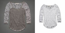 WOMENS ABERCROMBIE & FITCH SIZES - M CASEY LACE SHINE TOP SHIRT NWT