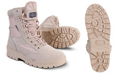 MILITARY ARMY DESERTCOMBAT PATROL BOOT TACTICAL SAND TAN BEIGE LEATHER SUEDE NEW