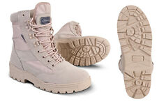 MILITARY ARMY DESERTCOMBAT PATROL BOOT TACTICAL SAND TAN BEIGE LEATHER SUEDE