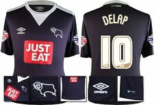 *15 / 16 - UMBRO ; DERBY COUNTY AWAY SHIRT SS + PATCHES / DELAP 10 = SIZE*